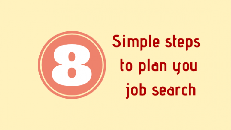 8 Simple Steps To Plan Your Job Search (Infographic)